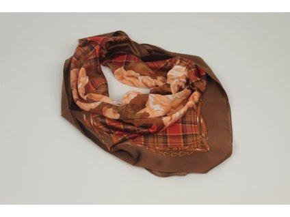 Dámský šátek 90x90 polyester Italy 1120