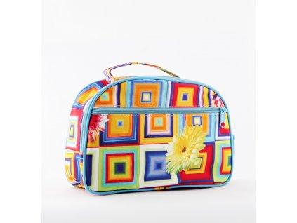 """Kosmetická taška Sincini-oblouk velký, """"Jaro"""""""