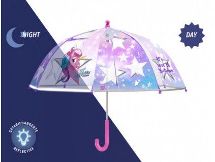 Dětský průhledný deštník unicorno - Jednorožec
