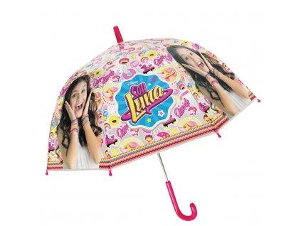 Dětský průhledný deštník Soy Luna