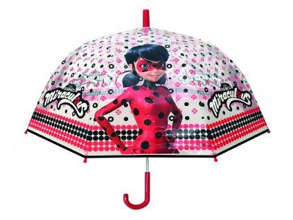 Dětský průhledný deštník Beruška a černý kocour