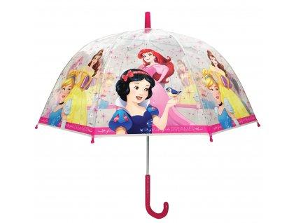Dětský průhledný deštník Princezny