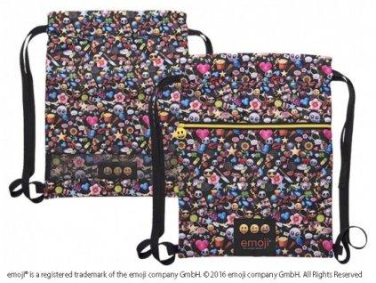 Vak na záda Emoji černý od  fi Perletti 45x34cm