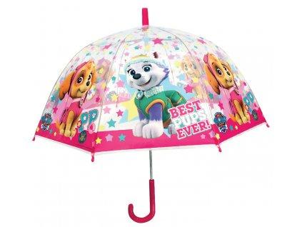 Dětský průhledný deštník PAW PATROL dívčí