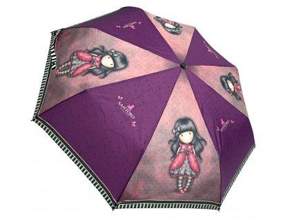 Luxusní skládací vystřelovací deštník Gorjuss Santoro růžový