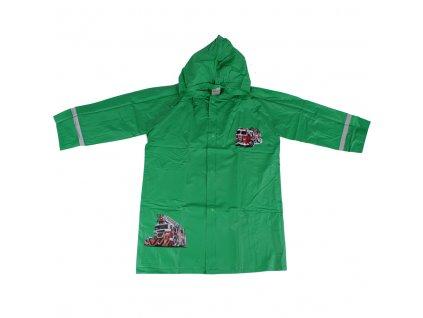 Dětská pláštěnka Hasič, zelená Wolf vel.92-134