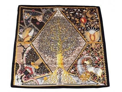 Dámský šátek 90x90 polyester Italy 1125
