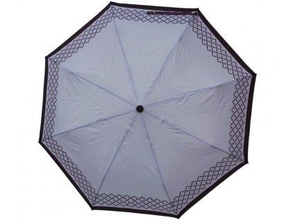 Luxusní skládací vystřelovací deštník VERSACE fialový