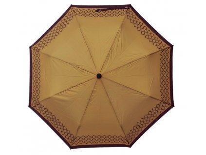 Luxusní skládací vystřelovací deštník VERSACE zlatý