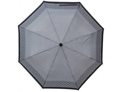Luxusní skládací vystřelovací deštník VERSACE modrý