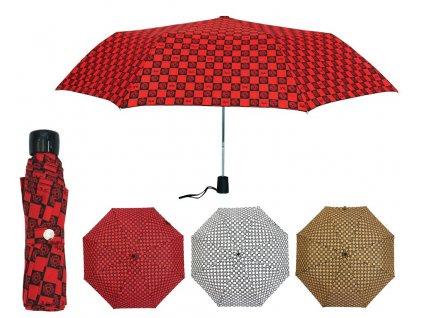 Luxusní dámský skládací deštník manuální VERSACE