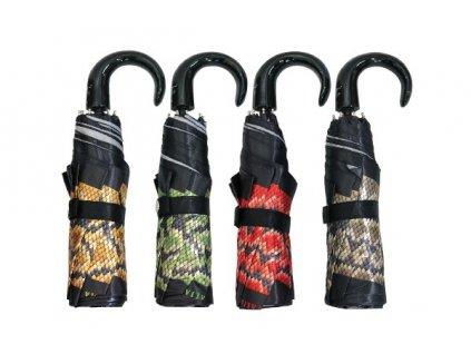Luxusní skládací deštník manuální VERSACE hadinkový vzor