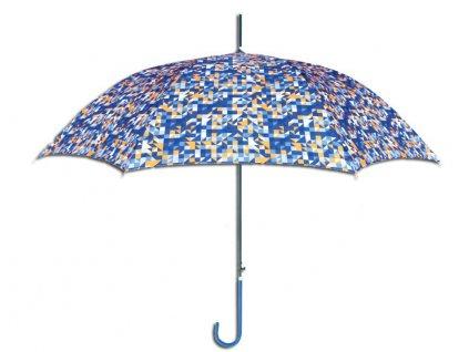 Luxusní dámský holový deštník GUY LAROCHE triangles