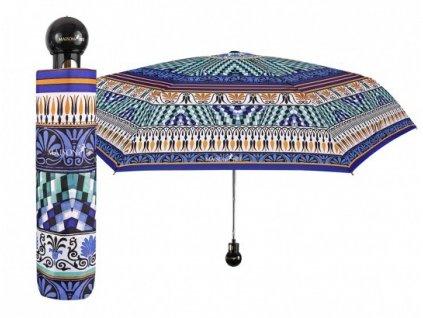 """Luxusní dámský skládací vystřelovací deštník Perletti - Maison,  """"Mozaika"""""""