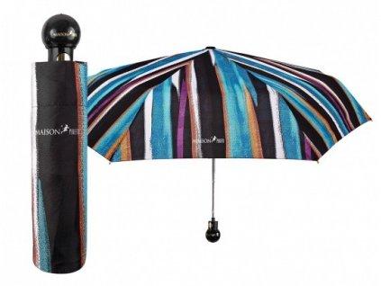 """Luxusní dámský skládací vystřelovací deštník Perletti - Maison, """"Pruhy"""""""