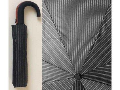 Pánský skládací vystřelovací deštník Proužek úzký