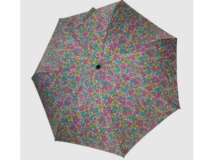 Dámský skládací deštník mini Květiny barevné provensal