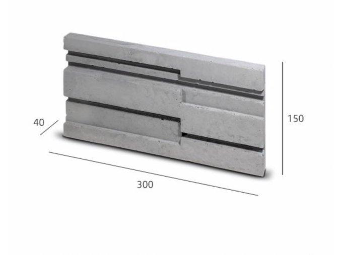 Obkladový kámen STRIP šedá