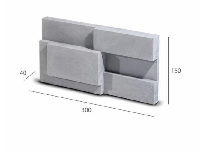 Obkladový kámen SQUARE šedá