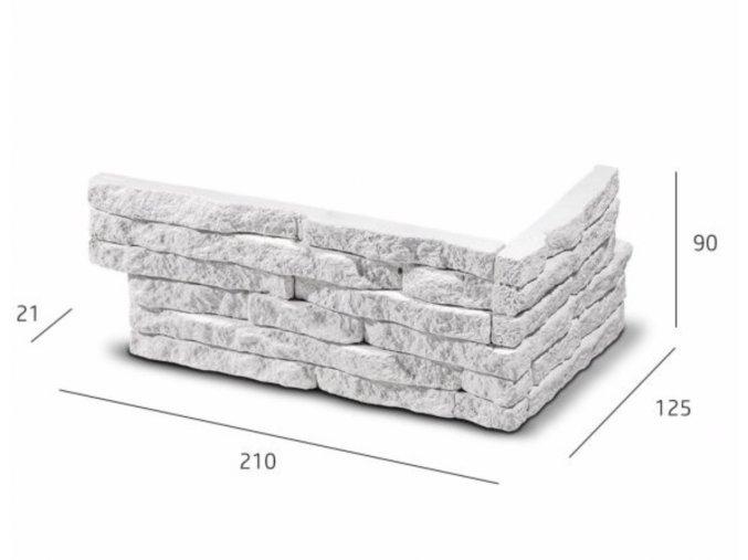 ROH Obkladový kámen TORES bílá