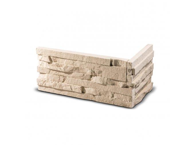 ROH Obkladový kámen TEPIC krémová 330x145x145x25 mm Sádra balení 0,87bm