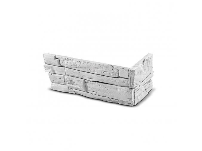 Roh pro obkladový kámen Steinblau FASAD - bílá