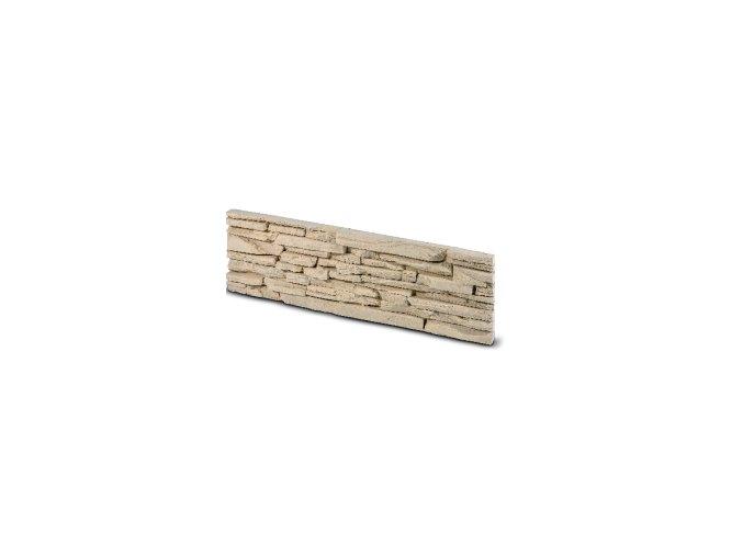Kamenný obklad CUBANA krémová 492x145x35 mm Beton balení 0,43m2