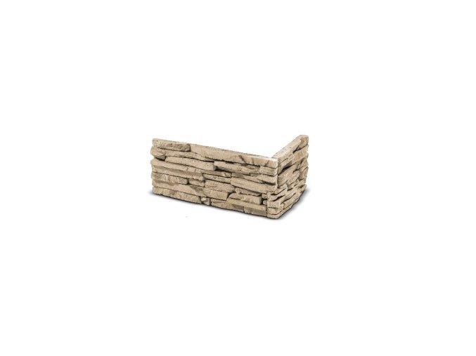 ROH Kamenný obklad CUBANA krémová 320x155x145x35 mm Beton balení 0,87bm