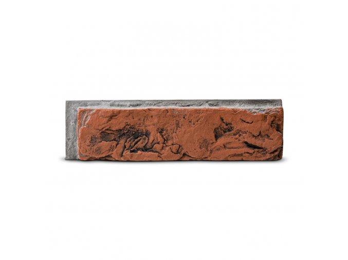 Cihlový obklad se spárou MIRAMAR 1 červená retro 255/70/25mm beton bal. 0,43m2