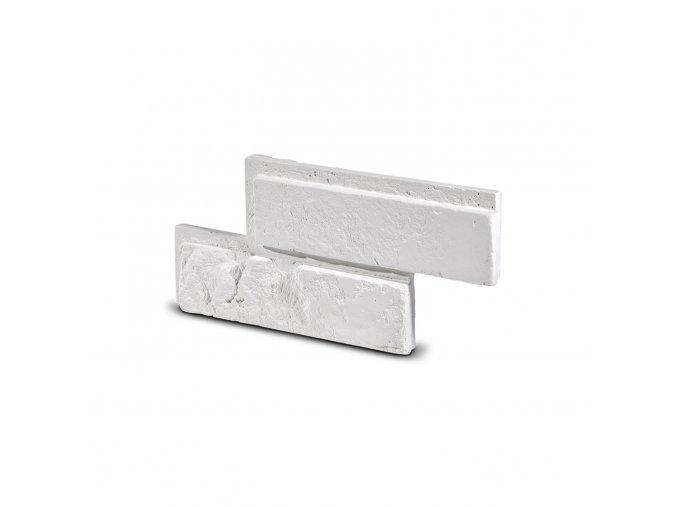 Cihlový obklad se spárou Bo TIN bílá 335x145x25 mm Sádra balení 0,46m2