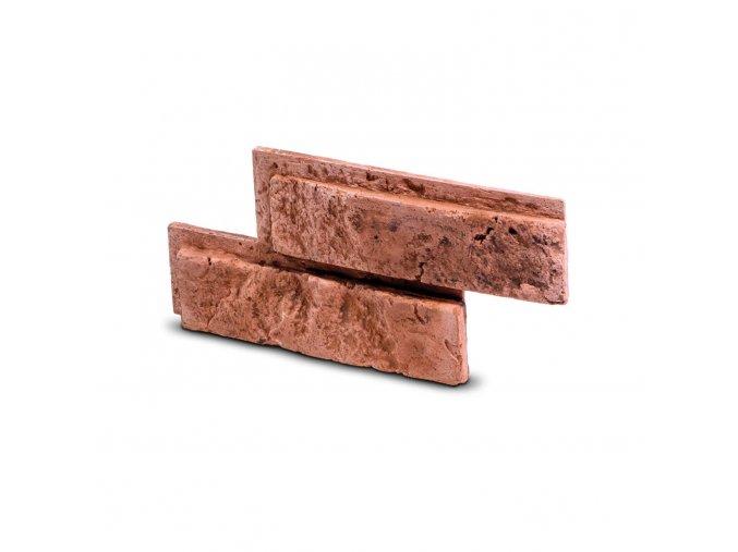 Cihlový obklad se spárou Bo TIN červená 335x145x25 mm Sádra balení 0,46m2