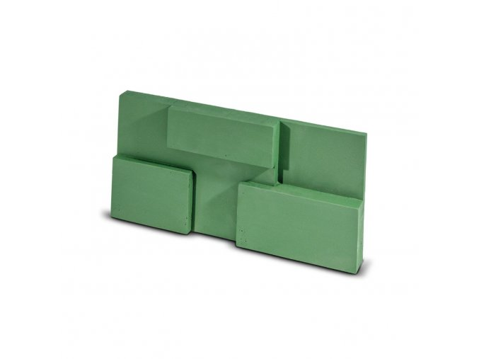 Steinblau Kamenný obklad SQUARE zelená 300/150/40mm beton bal. 0,27m2