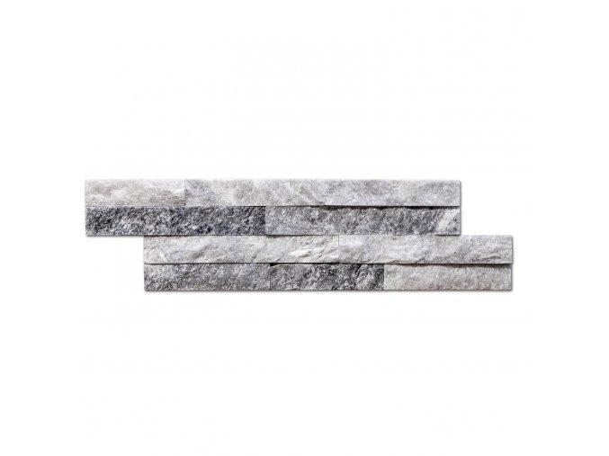 Přírodní kámen Steinblau - bílošedý 400x100x15mm balení 0,396m2