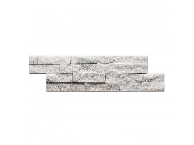 Přírodní kámen Steinblau - bílá 400x100x15mm balení 0,396m2