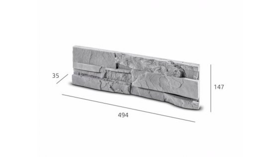 Obkladový kámen SORRENTO šedá