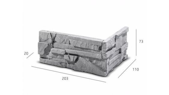 ROH Obkladový kámen SORRENTO šedá