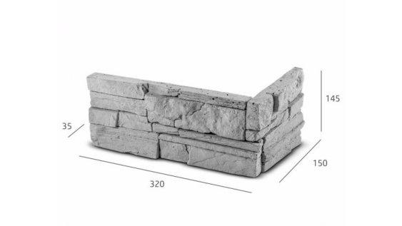 ROH Obkladový kámen MANUS šedá