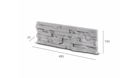 Obkladový kámen TEPIC šedá