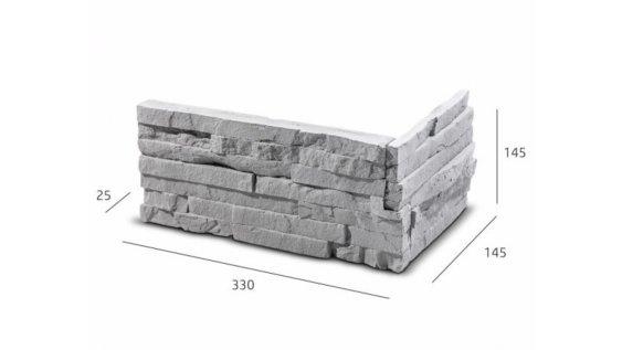 ROH Obkladový kámen TEPIC šedá