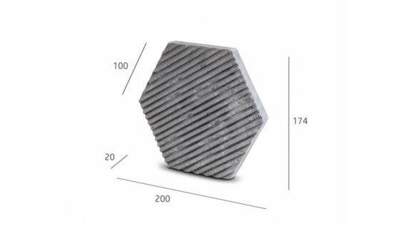 Obkladový kámen PLAYA HEXAGON dekor