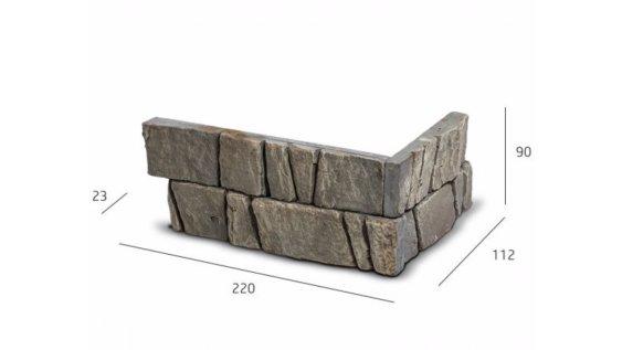 Obkladový kámen PADWA ROH šedá