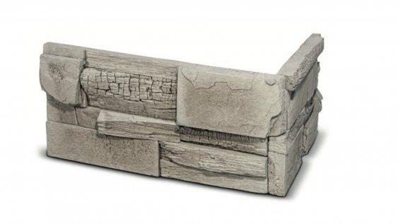 Roh pro kamenný obklad Steinblau AROS - světle šedá