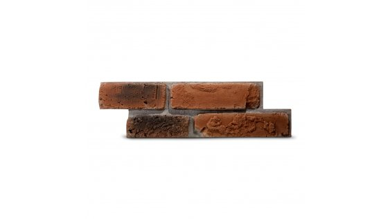 Cihlový obklad se spárou MONTEROS 1 červená historik 500/150/25mm beton bal. 0,5m2