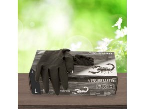 Latexové rukavice Nitras Medical 8220 Black Scorpion 100Ks