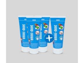 Zubní pasta Emmi-dent Kids 3+1 Ks