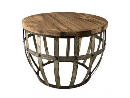 Odkládací stolek kovový industriální Clayre & Eef