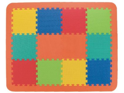 Pěnové puzzle desky celobarevné FM 946MN EVA 12ks