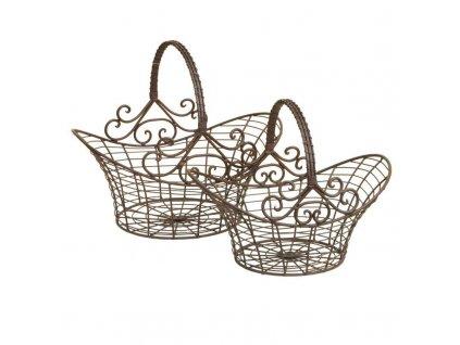 Sada dvou drátěných košíků Clayre & Eef