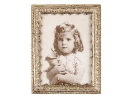 Rámeček na fotku zdobený vintage patina Clayre & Eef
