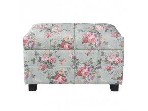 Podnožka taburet květovaný s úložným prostorem CLAYRE & EEF